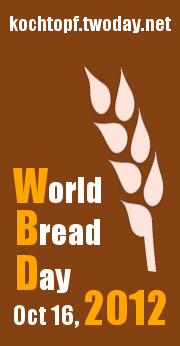 Baguette curcuma e noci pecan per il World Bread Day 2012